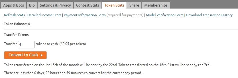 Convert tokens into USD