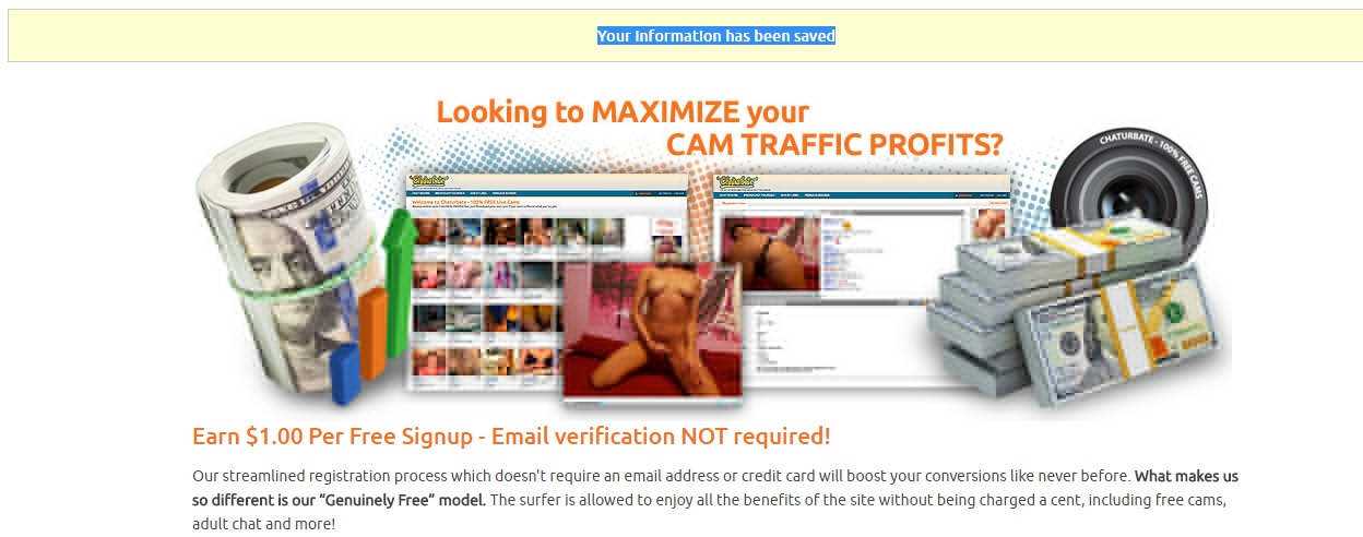 Sign up a Chaturbate as cam model and set up payments4